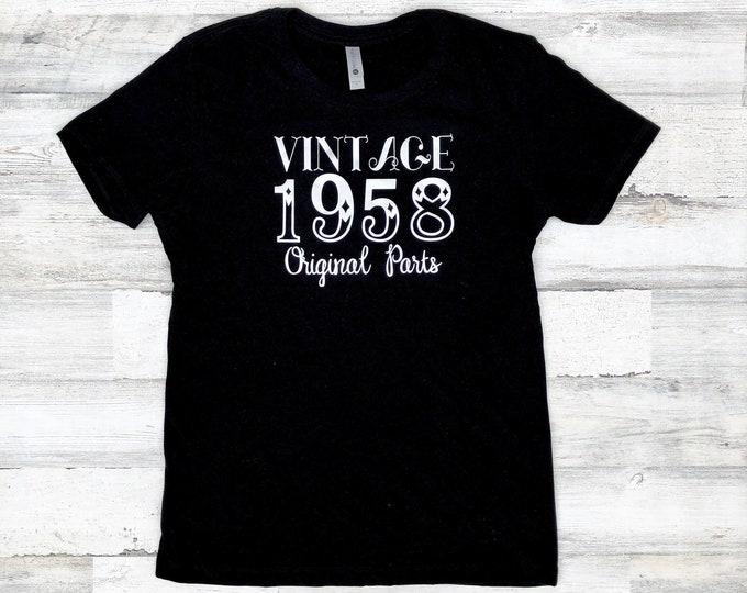 Vintage Birthday Shirt - Original Parts - Funny Birthday Shirt Idea