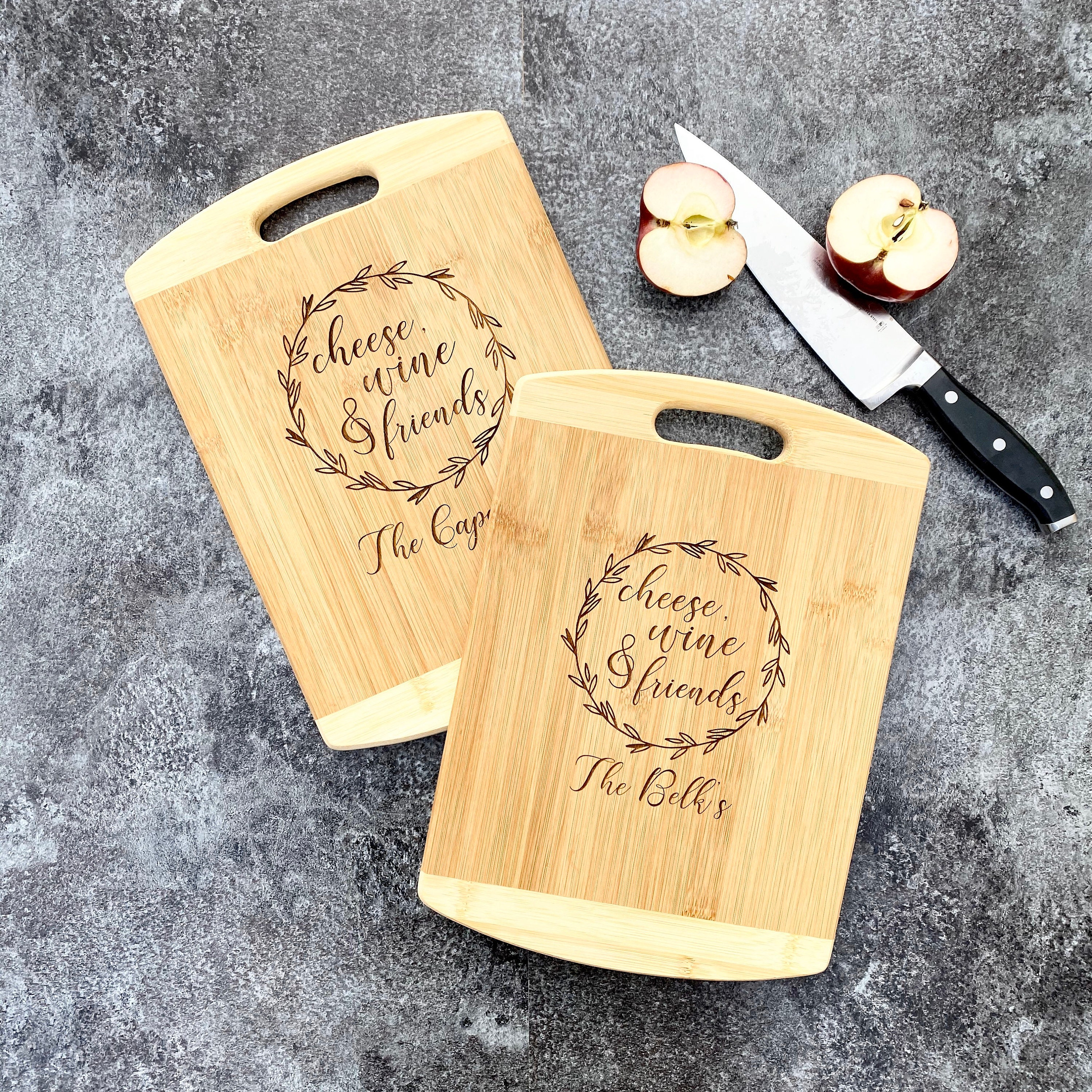 Wood Engraved Custom Cutting Board Anniversary Or Wedding Gift Personalized Cutting Board With Name