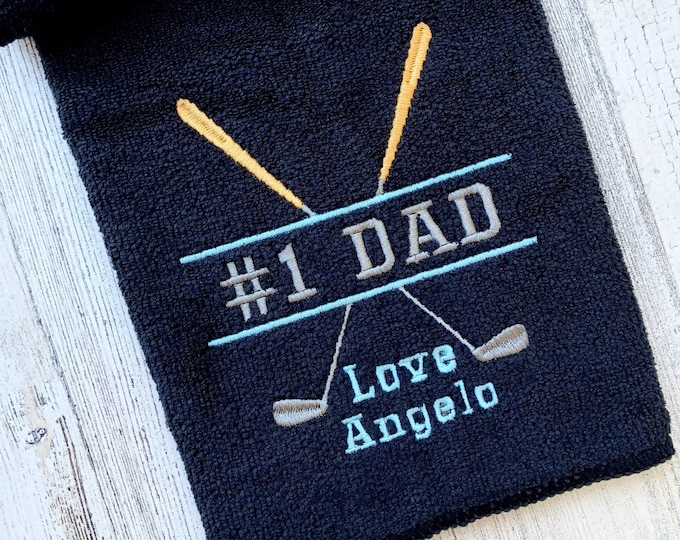 Golf Towel - Personalized Embroidered Golf Towel - Fathers Day Golf Towel - Fathers Day Gift