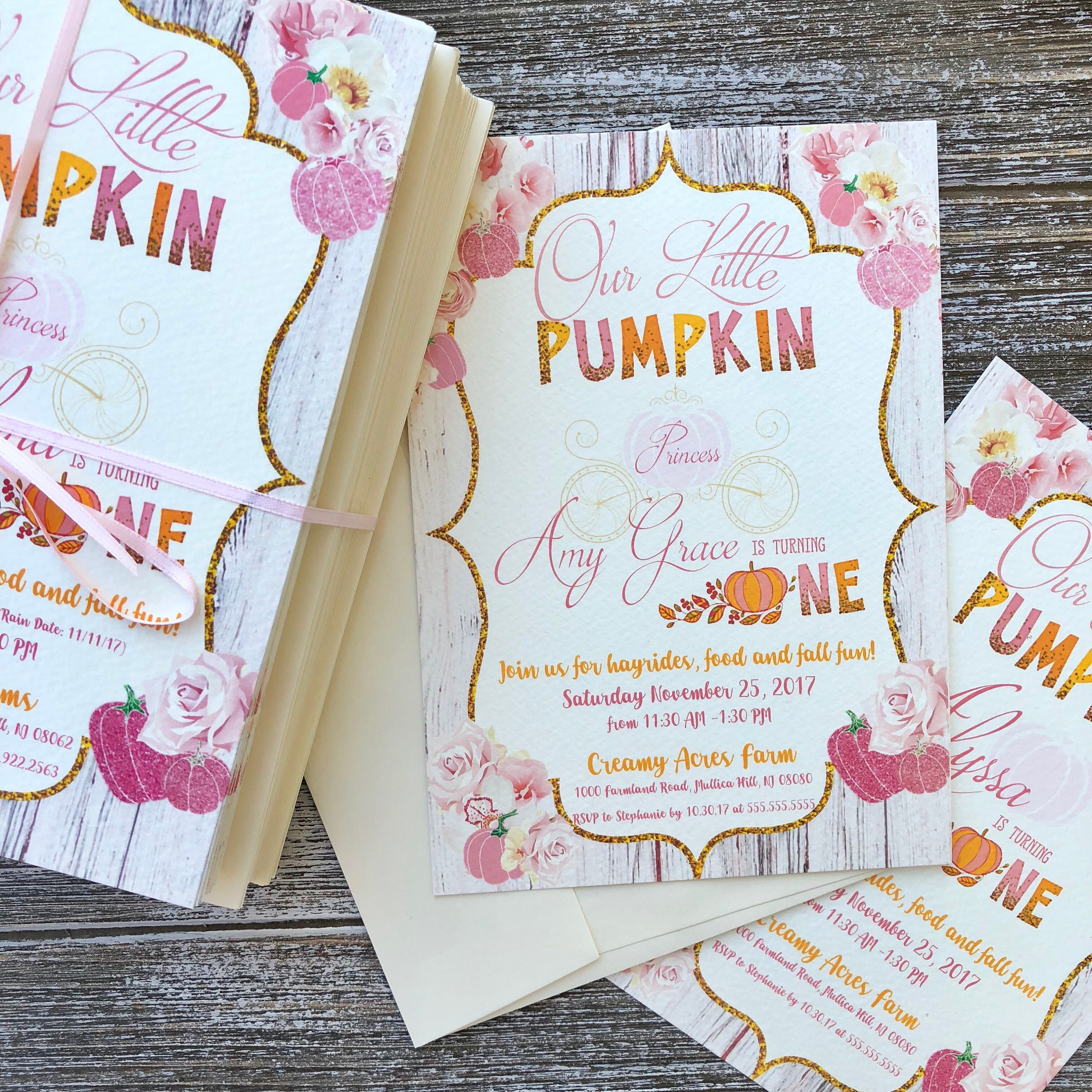 Printed & Shipped - Our little Pumpkin Princess is Turning One ...