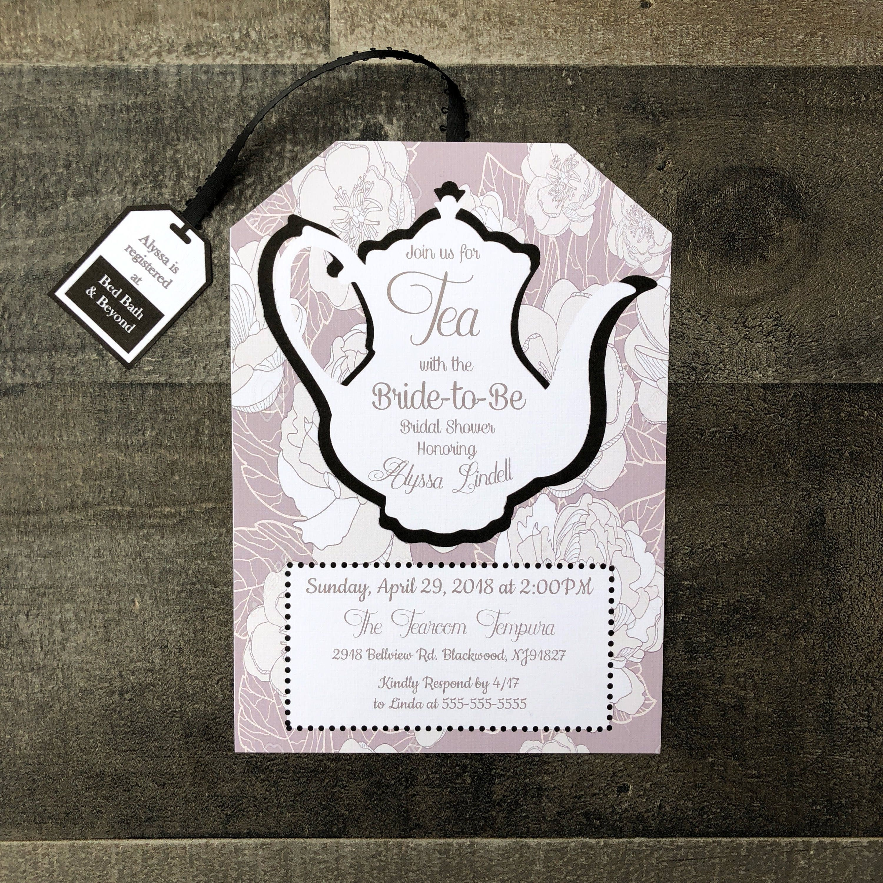 Tea Party Bridal Shower Invitations Tea Party Baby Shower