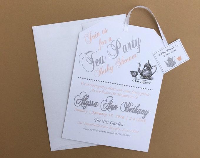 Tea Party Shower Invitations -Customizable