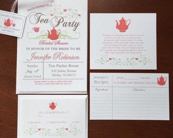 Druckbare RSVP Karten für Tee-Party-Einladungen