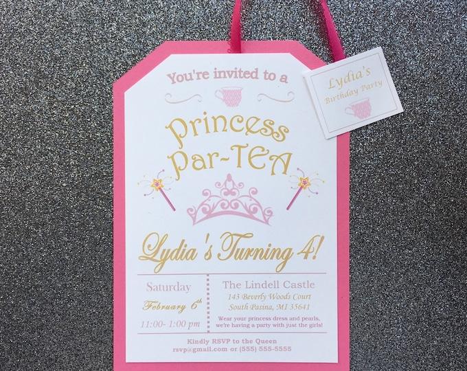 Little Girl's Pink Princess Tea Party
