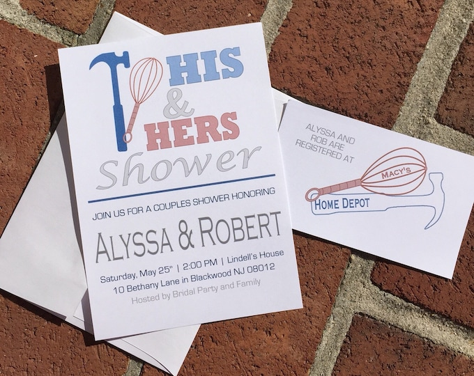 His and Hers Couples Bridal Shower