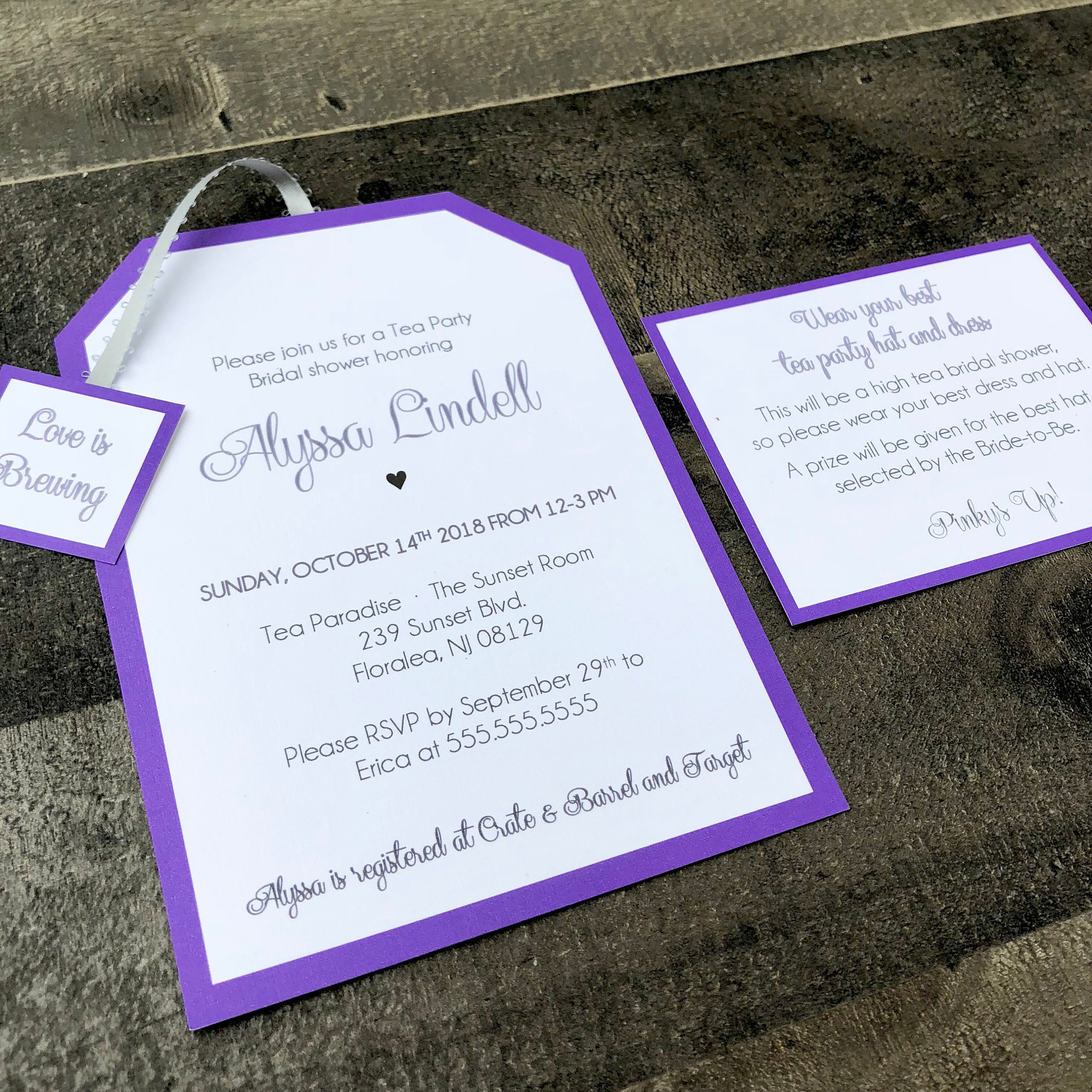 Tea Party Invitations Customizable For Any Event Baby Bridal