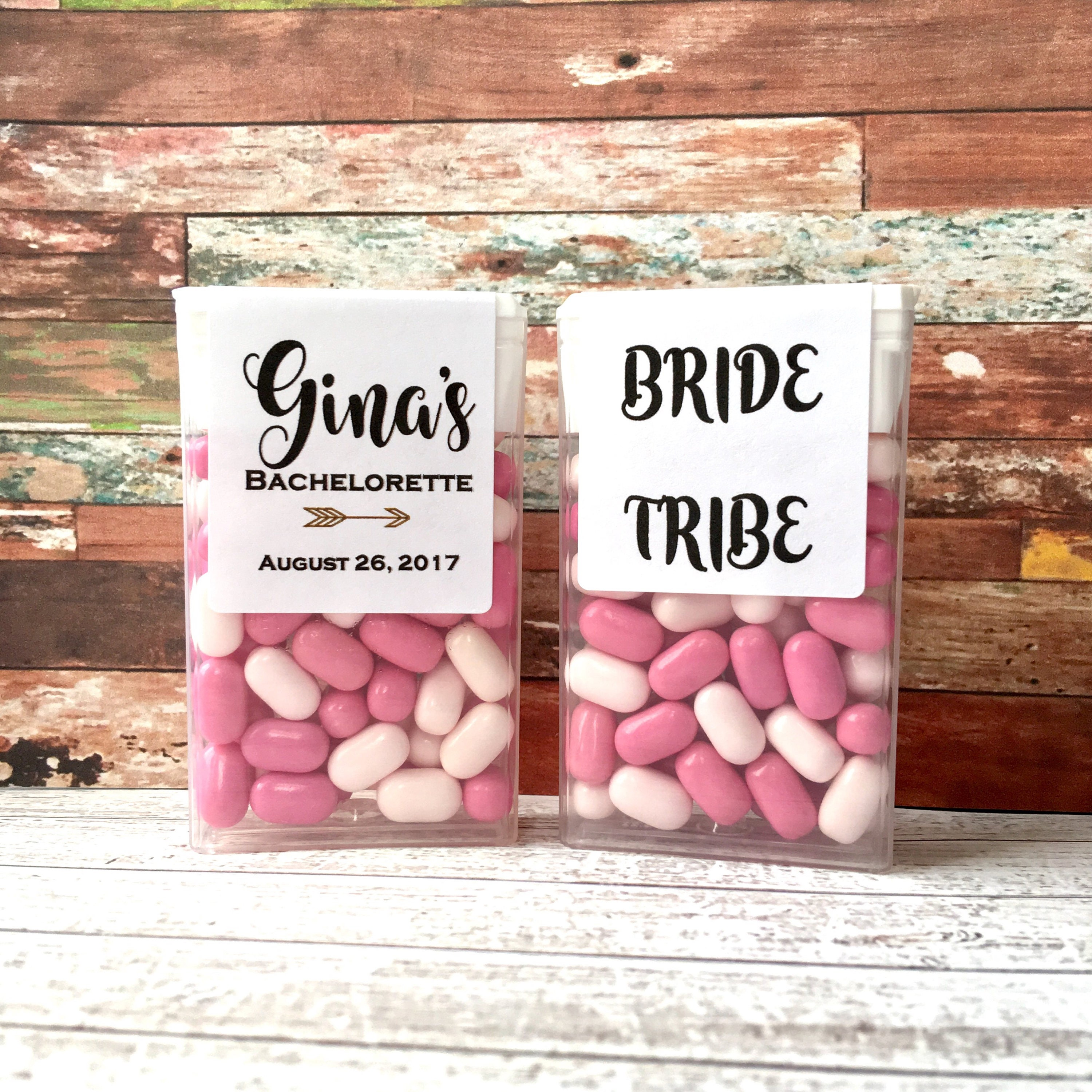 Tic Tac Labels Only Bachelorette Party Favors Customizable