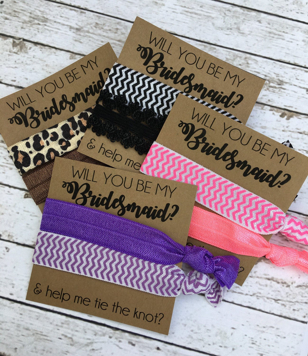 ... tie the knot hair ties - bridesmaid gift - Bridal Party Gifts and  boxes. gallery photo ... db50d9d7ee8