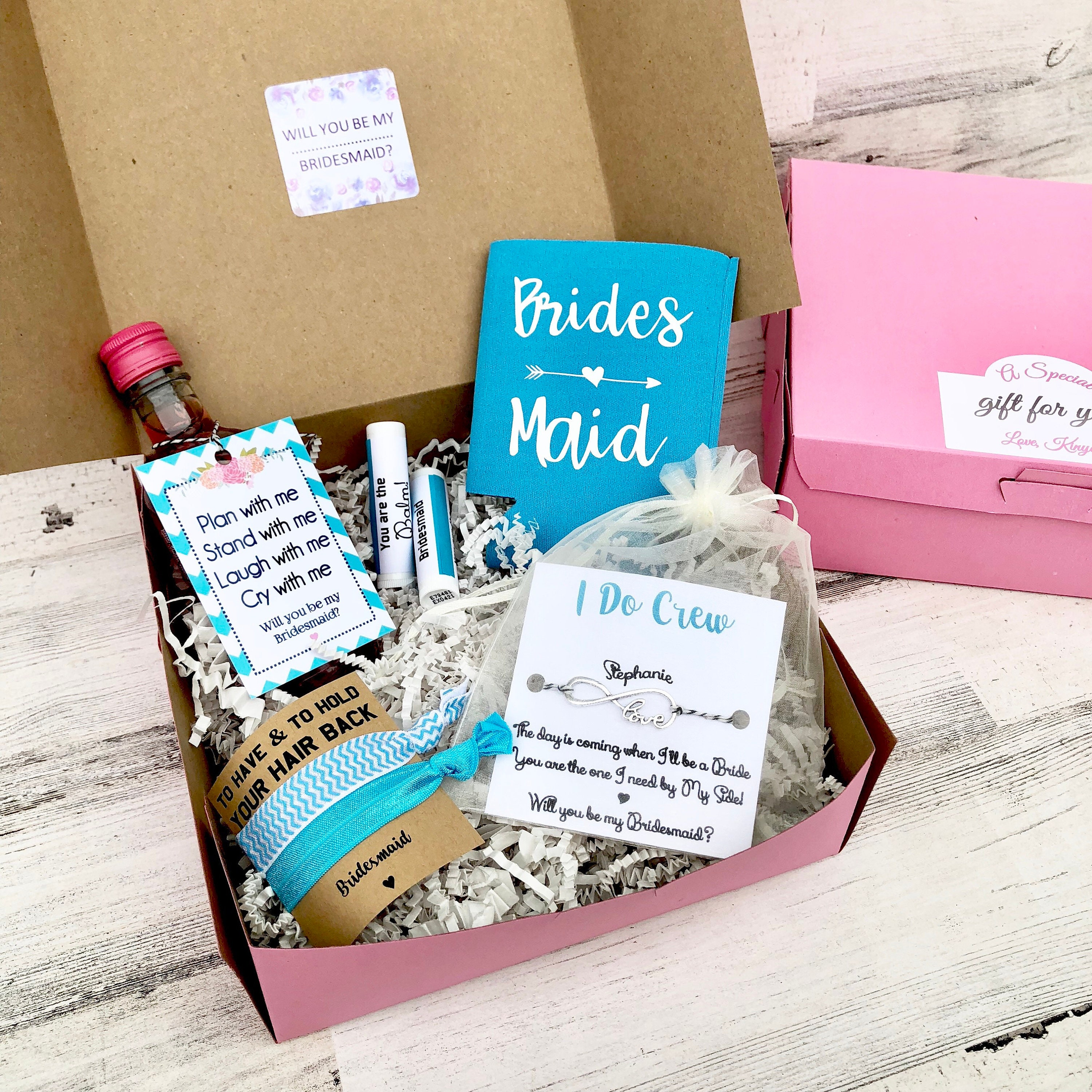 Bridesmaid Gift Boxes Proposals Will You Be My Bridesmaid Gift