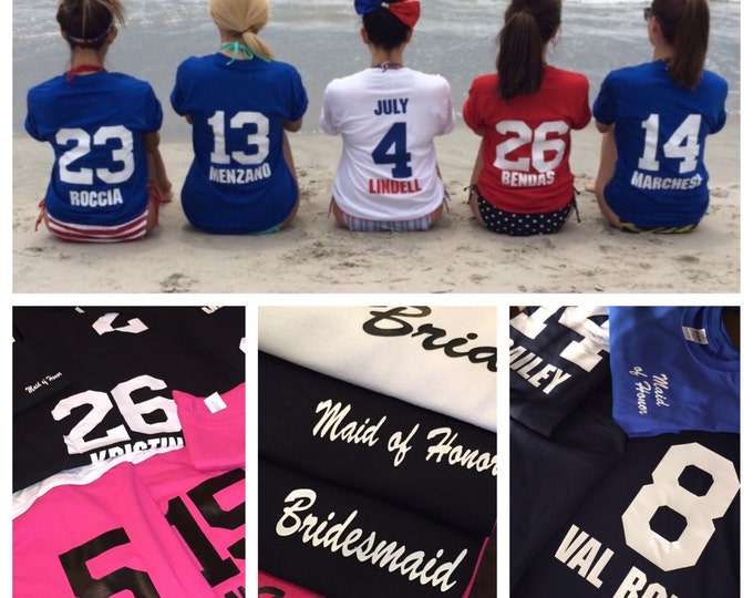 Bridesmaids Shirts Years known the Bride (blank front)