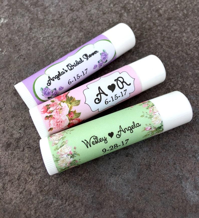 Lip Balm Favors  Chapstick Favors Bridal Shower  Baby Shower  Wedding Favors  Keep Save