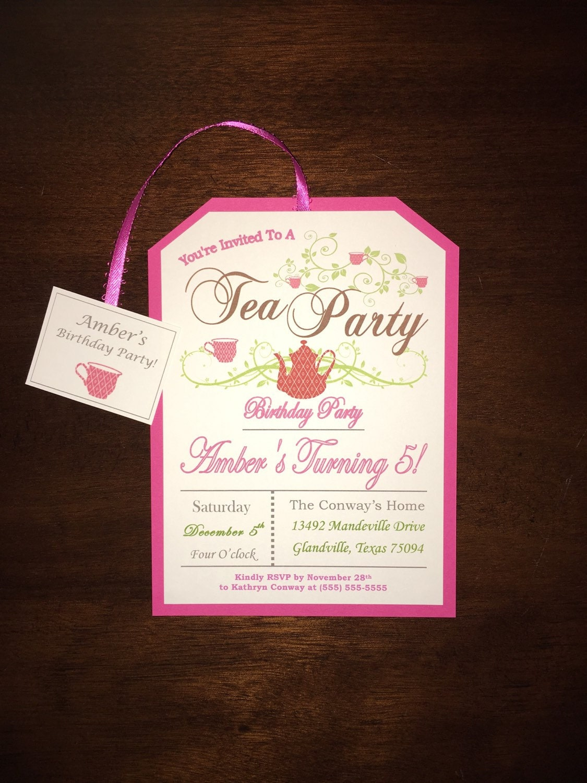 Birthday Invitations 5 Years Old Customizable 1