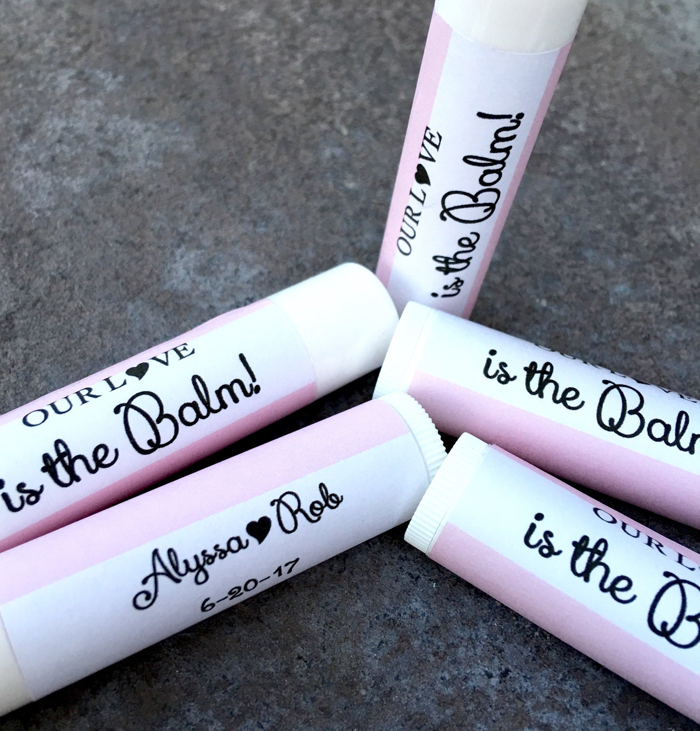 Our Love Is The Balm Lip Balm Favors Chapstick Favors Bridal