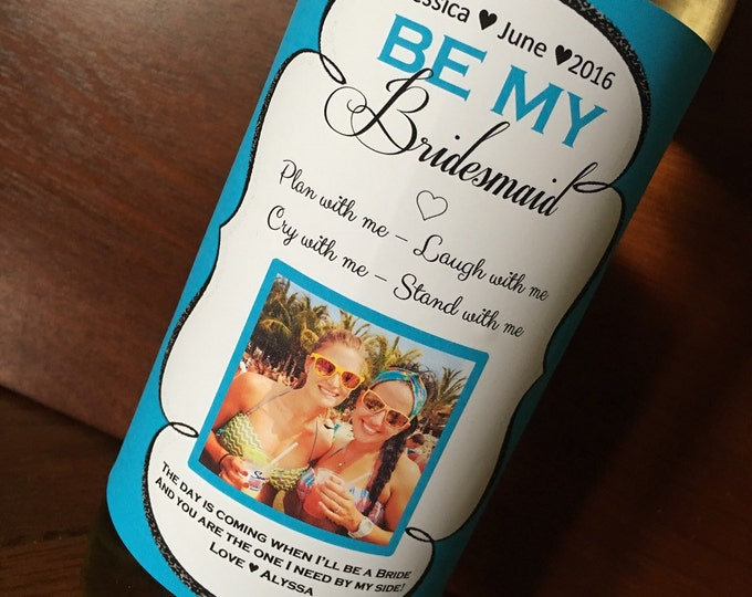 Bridal Party Wine label stickers - Will you be my bridesmaid