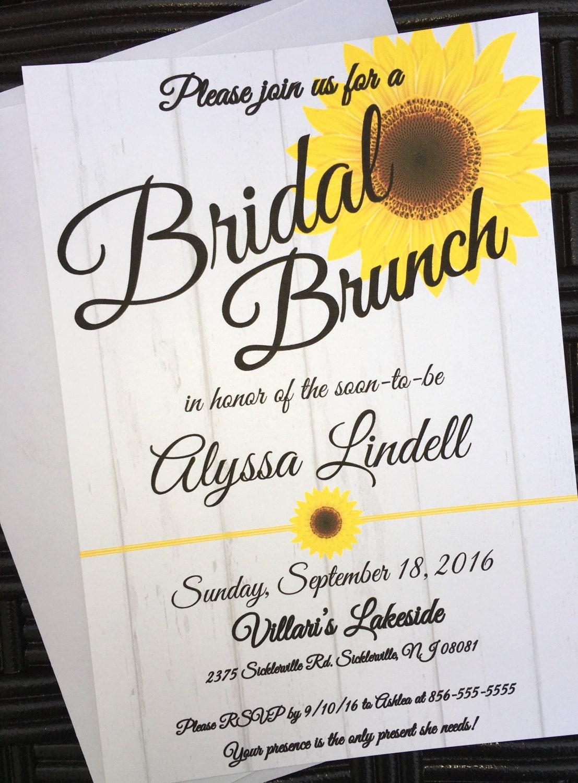 bridal brunch sunflower themed bridal shower invitation gallery photo gallery photo gallery photo