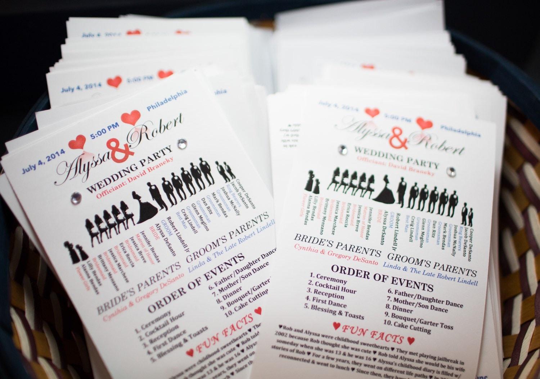 Printable Wedding Ceremony Programs Silhouette Style