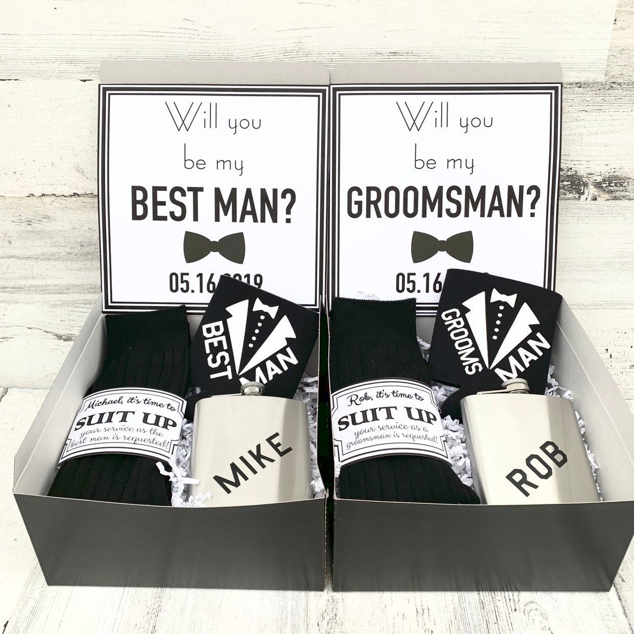 ... Man Gift Box. 1  sc 1 st  Before The Rings LLC & Best Man Gift Boxes - Thank you for being my Best Man or ...