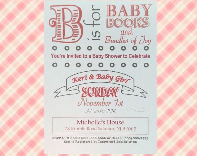 Baby Shower Invitations (B is For Baby)