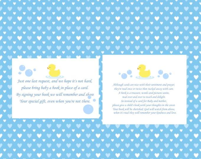 Additional Poem Cards for Rub a Dub Dub Baby Shower