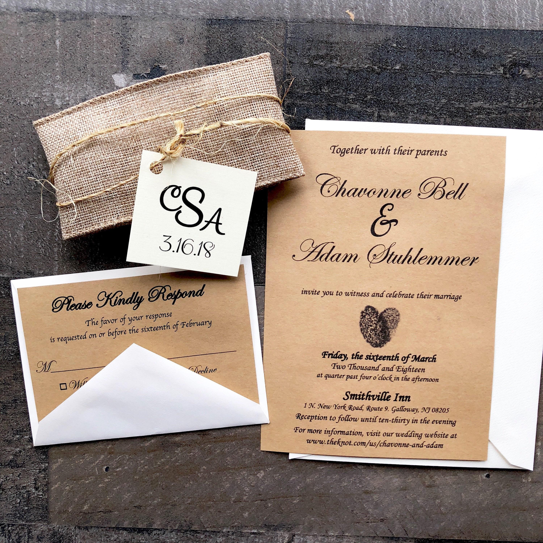 ... Twine and Doily Wedding Invitation. 1