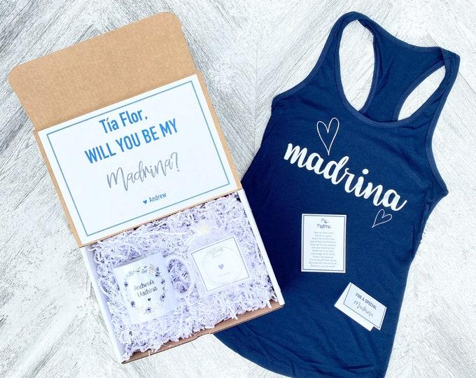 Madrina Box - Personalized Madrina Gift - Will you be My Madrina Box - Spanish Godmother gift