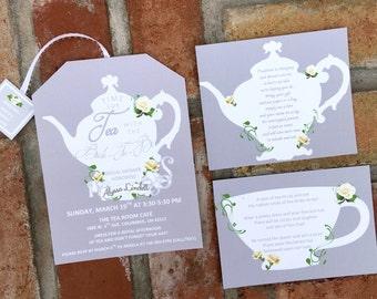 Weitere Einsatz Karten für Tee-Party-Einladungen