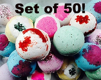 Wholesale Bath Bombs Set of 50! Add your Scents in Notes at Checkout!/Bath Bombs, Wholesale Bath Bombs, Private Label