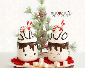 Marshmallow Mug Topper   My Cozy Cap   Peppermint Mug Topper   Marshmallow Mug Topper   S'more Tiered Tray   Chocolate Faux Whip Topper
