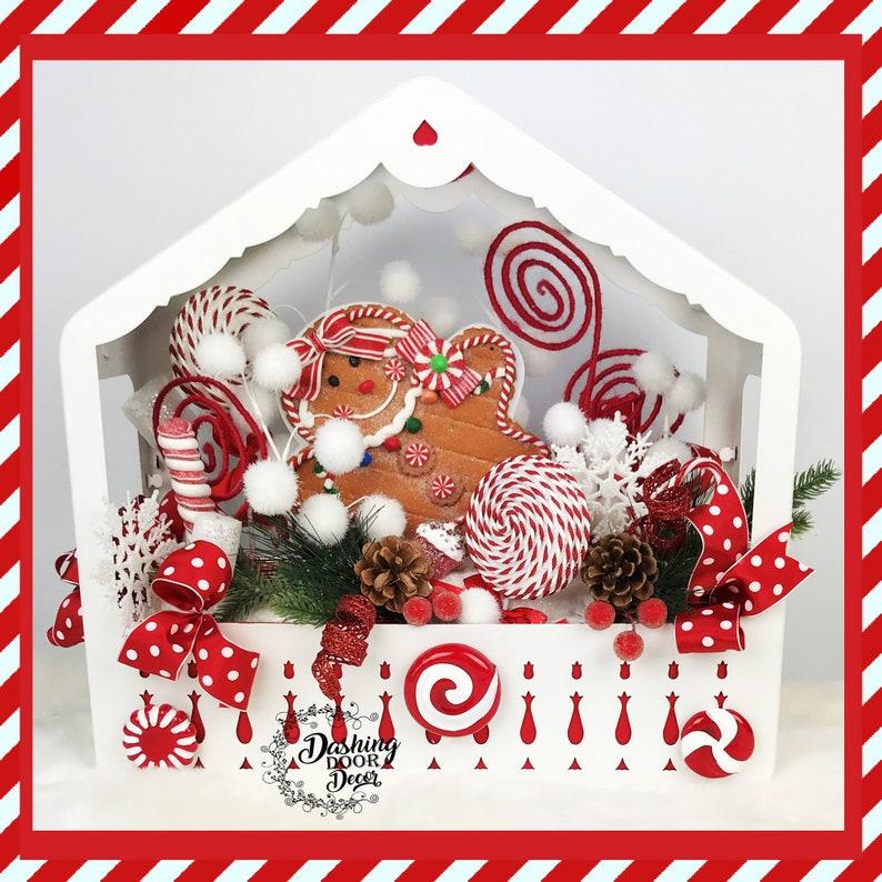 Christmas Centerpiece Gingerbread House Candyland Centerpiece Christmas Arrangement Candyland Arrangement FREE SHIP Christmas Floral