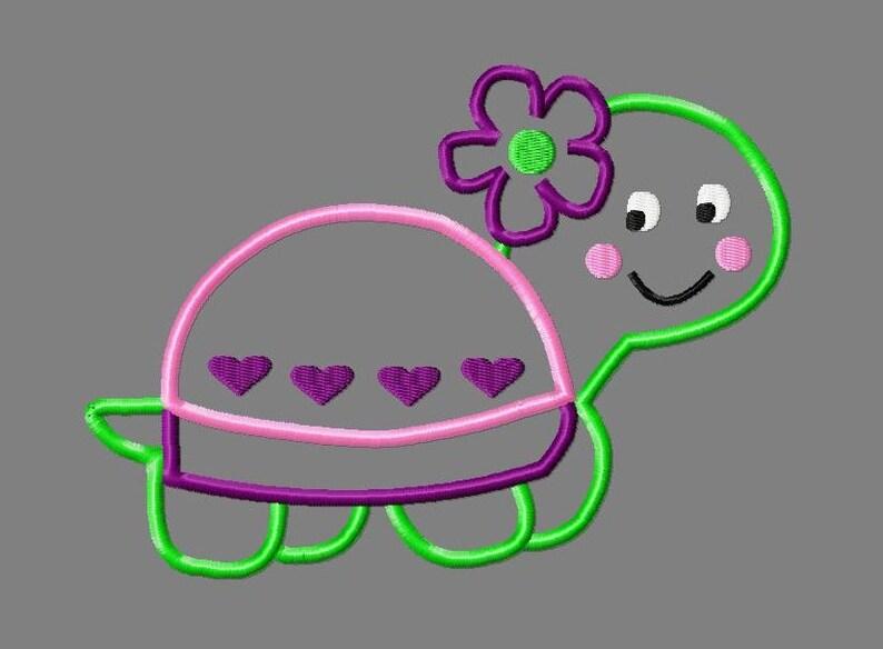 Buy get free turtle applique design girl turtle etsy