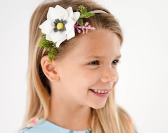Sweet Magnolia Fet flower headband