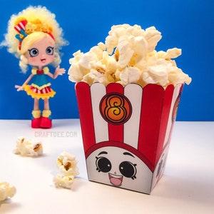 PRINTABLE Shopkins Inspired Popcorn Box 3 Instant Download Poppy Corn