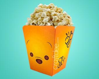 Winnie The Pooh Popcorn Box - Tsum Tsum Birthday Party
