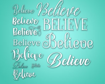 12 Believe - SVG & PNG files