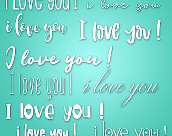 10 I Love You Words - SVG & PNG files - Valentine's Day