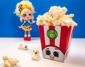 """3"""" Poppy Corn Popcorn Box Original - Shopkins Birthday Party"""