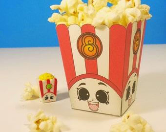 """5"""" Poppy Corn Popcorn Box - Shopkins Birthday Party"""