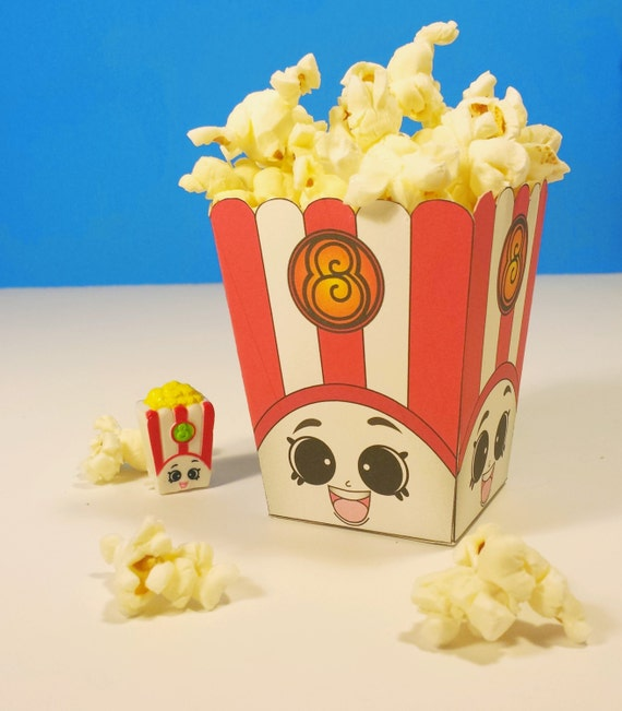 High Quality 5 Poppy Corn Popcorn Box Shopkins Birthday Party