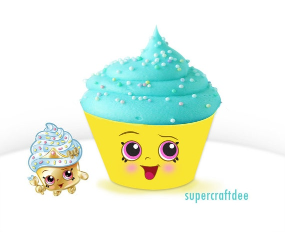 1 1 2 cupcake queen cupcake wrapper shopkins birthday etsy