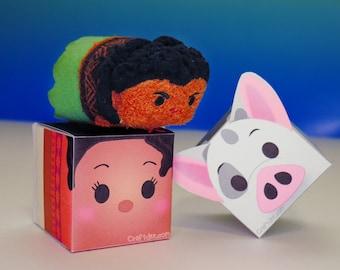 Moana & Pua Tsum Tsum Favor Box - Moana Birthday Party