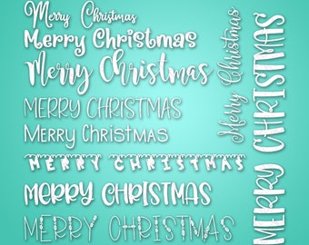 10 Merry Christmas - SVG & PNG files