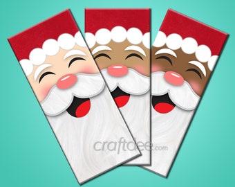 Santa Candy Wrapper, 3 Skin Tone Santa Claus, Christmas Party Gifts