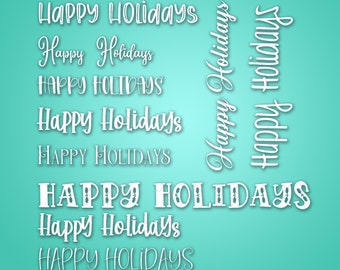 10 Happy Holidays - SVG & PNG files