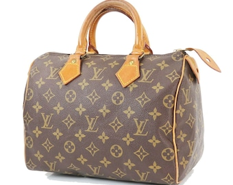 01bd0f1c57 Autentica Louis Vuitton Brown Monogram Canvas Speedy 25 della borsa. Louis  Vuitton Speedy Bag Vintage 1987 LV