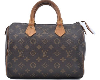 91746a012158 Authentic Louis Vuitton Brown Monogram Canvas Speedy 25 Handbag Purse. Louis  Vuitton Speedy Bag Vintage 1992 LV