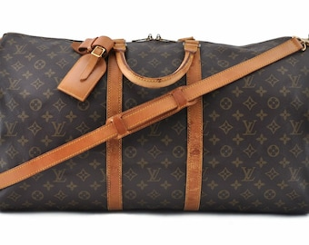 94e8bd5732a9f Authentische Louis Vuitton Monogram Canvas Keepall Bandouliere 55 Unisex  Duffle Hand Tasche Tragriemen Jahrgang 1988 Louis Vuitton LV Tavel