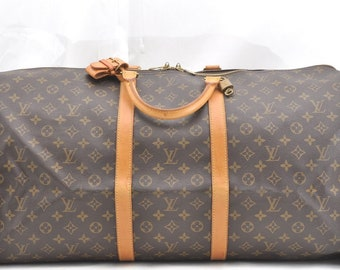 Authentic Louis Vuitton Monogram Canvas Keepall 60 Unisex Duffle Hand Bag  Vintage 1996 033ce135d9b4b