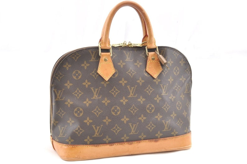 0deaec845329 Authentic Louis Vuitton Brown Monogram Canvas Alma Handbag