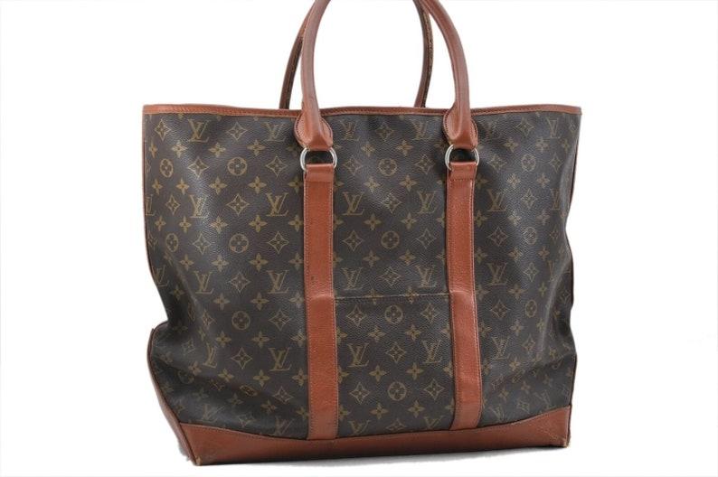 7096b5771ad Authentic Louis Vuitton Brown Monogram Canvas Sac Weekend