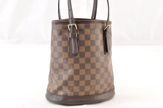 Authentic Louis Vuitton Brown Damier Marias Canvas Small PM  9bbf4e3dfb034